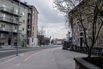 The empty city center of Kranj, Slovenia, during the coronavirus outbreak nationwide lockdown on March 22, 2020.
