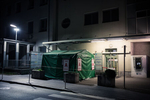 A coronavirus (COVID-19) testing tent outside a medical center in Kranj, Slovenia, on April 12, 2020.