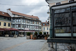 The empty old city center of Kranj, Slovenia, during the coronavirus outbreak nationwide lockdown on March 22, 2020.