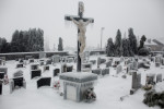 A cemetery is engulfed in ice in Postojna, Slovenia, February 5 2014.