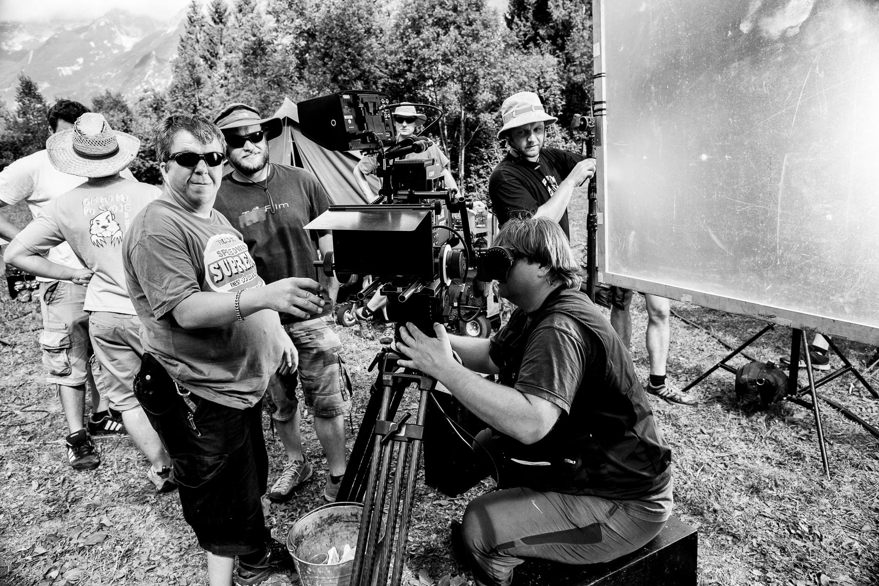 Behind the scenes of the Slovenian film Going Our Way 2 by Luka Dakskobler