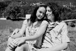 Actor Jure Kreft and actress Larisa Lara Pohorec on the set of Going Our Way 2.