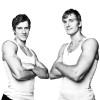Basketball players Goran Dragic and his brother Zoran Dragic, NBA.