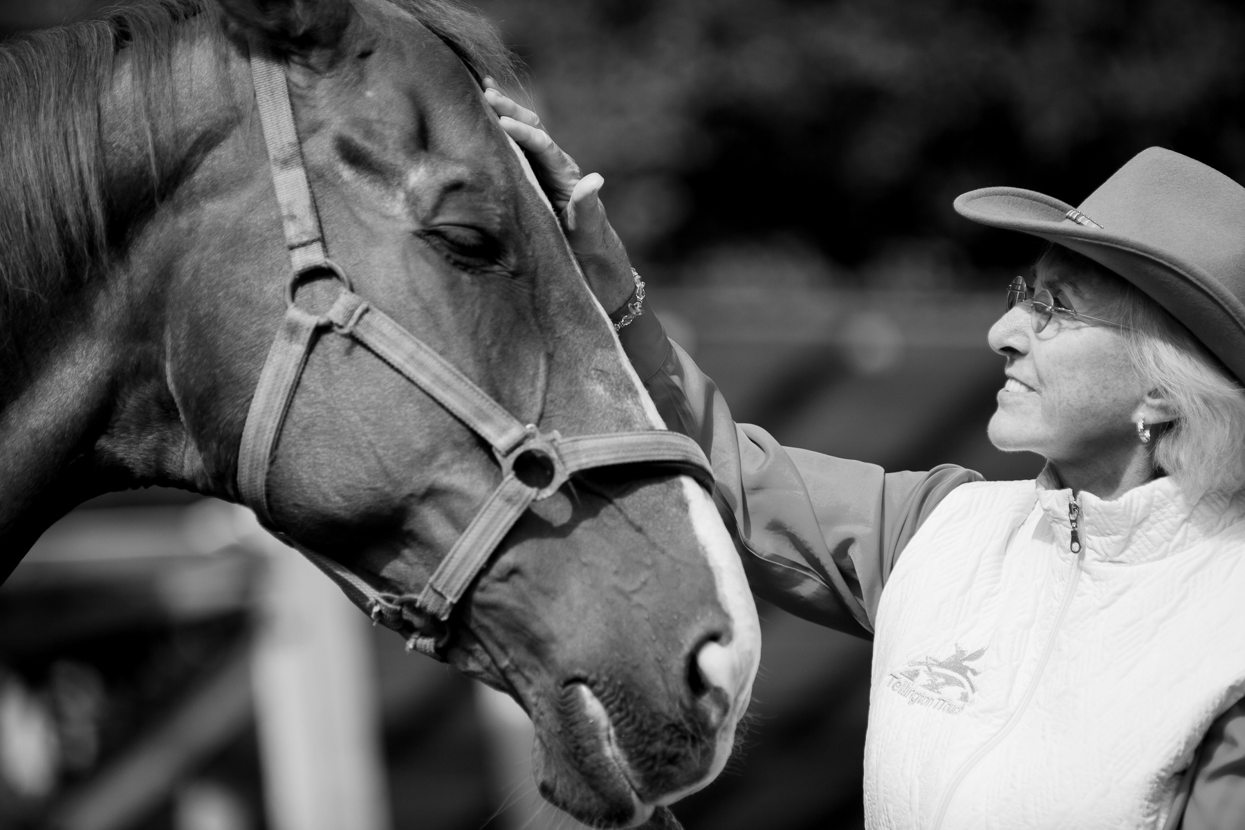 Photos of world-renowned equine expert Linda Tellington-Jones by Luka Dakskobler.