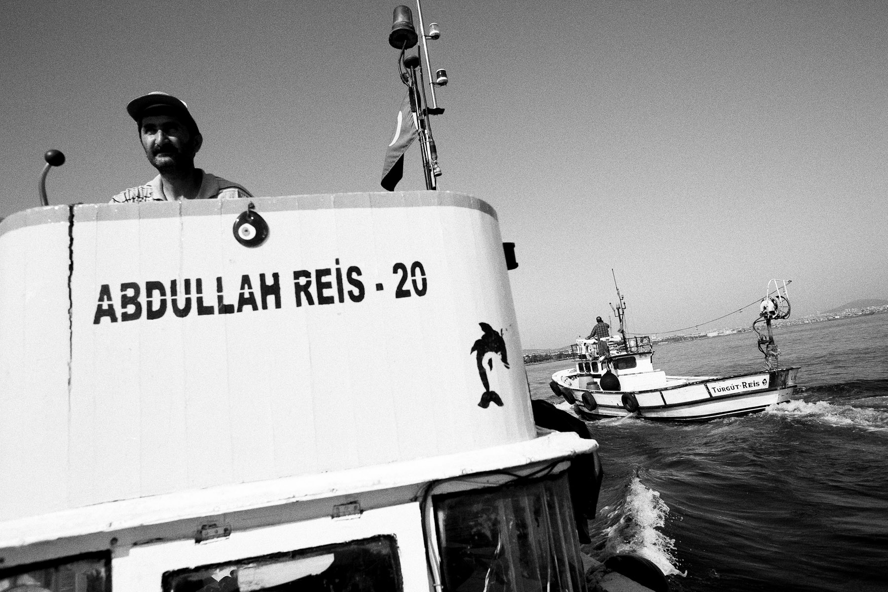 Adem's boat is one of a relatively small number of small boats that stay on the Marmara sea, after the fish move to a colder climate up the Mediterranean and the big boats follow them.