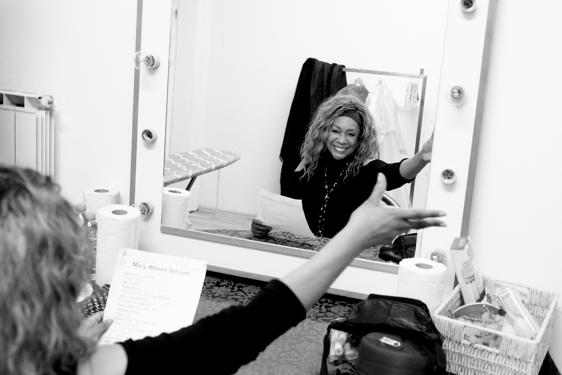 Mary Wilson of the Supremes practices her Slovenian phrases before the concert in Maribor, Slovenia, February 4, 2020.