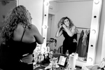 Mary Wilson of the Supremes getting ready backstage before the concert in Maribor, Slovenia, February 4, 2020.