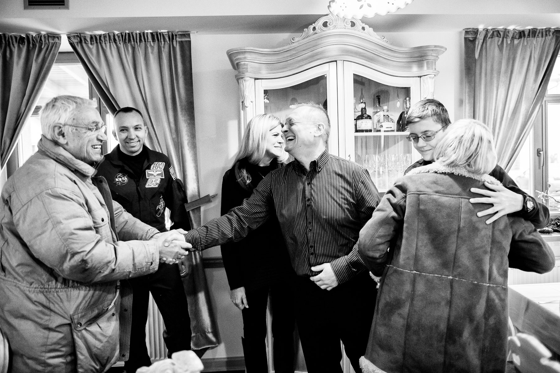 March 11, 2018 - The Bresnik family meets with relatives and the mayor of Ljubno, Slovenia, where his great-grandmother was born.