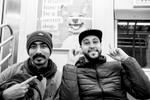 Suman Das, Indian actor, and Abdelkarim Medouri aka Karim El Gang, Algerian rapper. (New York, USA, 2018)