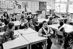 Being so intelligent, Barbara attends first grade class in a regular elementary school in Dornava, April 5, 2012.