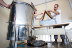 By the end of May the first honey is being collected at the Secondary School of Trade in Ljubljana.