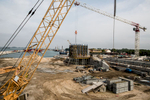 The MOSE project construction site at Lido inlet as seen on September 24, 2012.