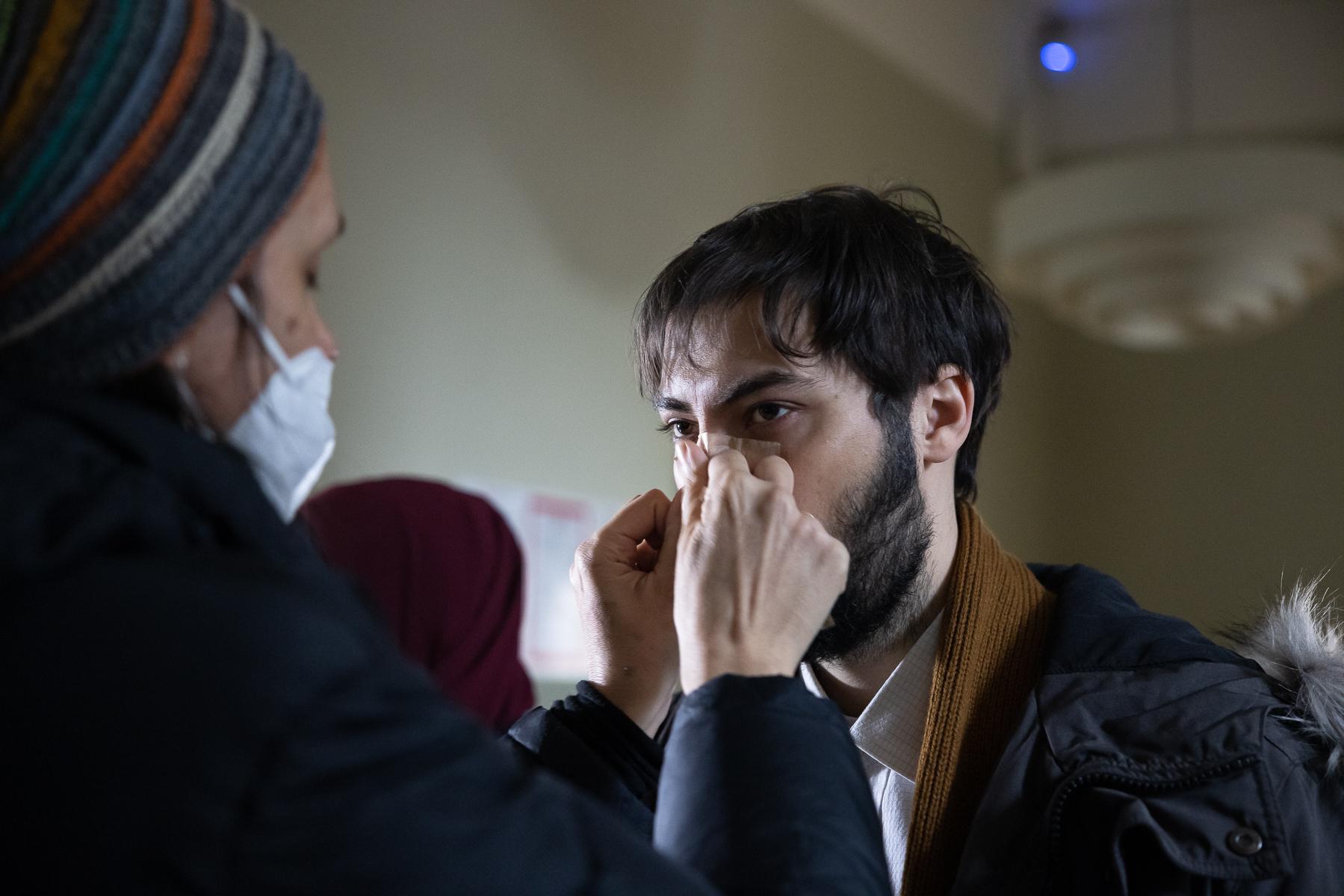 Actor Benjamin Krnetić on the set of Wake Me.