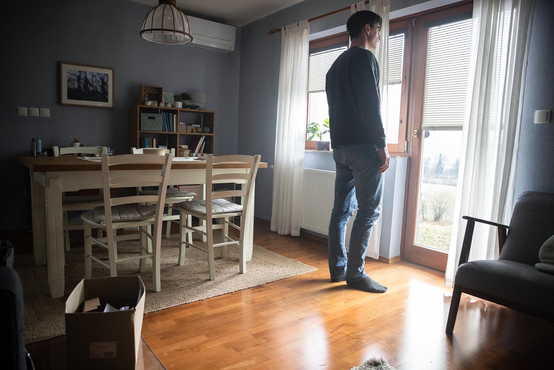 Actor Jure Henigman filming a scene for Wake Me.
