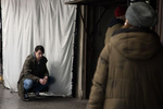 Actor Jure Henigman on the set of Wake Me.
