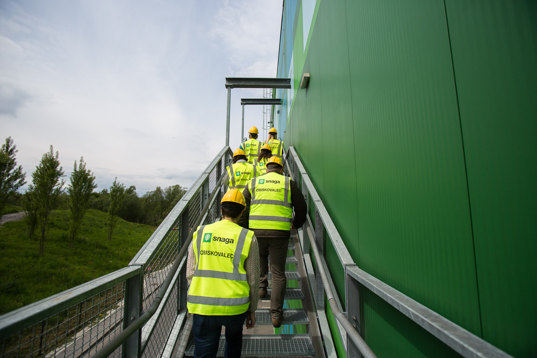 International guests visit the RCERO Ljubljana mechanical biological treatment plant on their zero waste study tour of Slovenia organized by Zero Waste Europe on May 8, 2019.