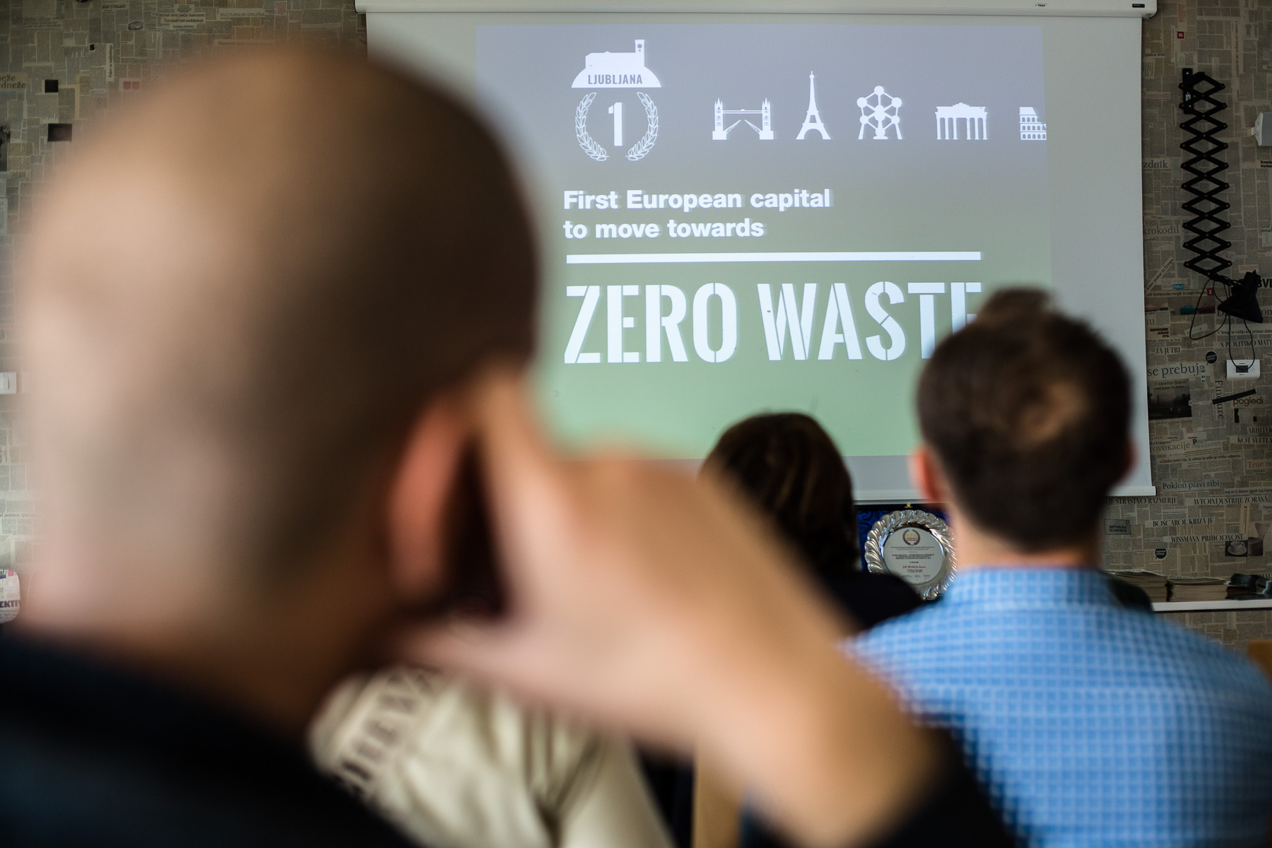 International guests visit the RCERO Ljubljana on their zero waste study tour of Slovenia organized by Zero Waste Europe on May 8, 2019.