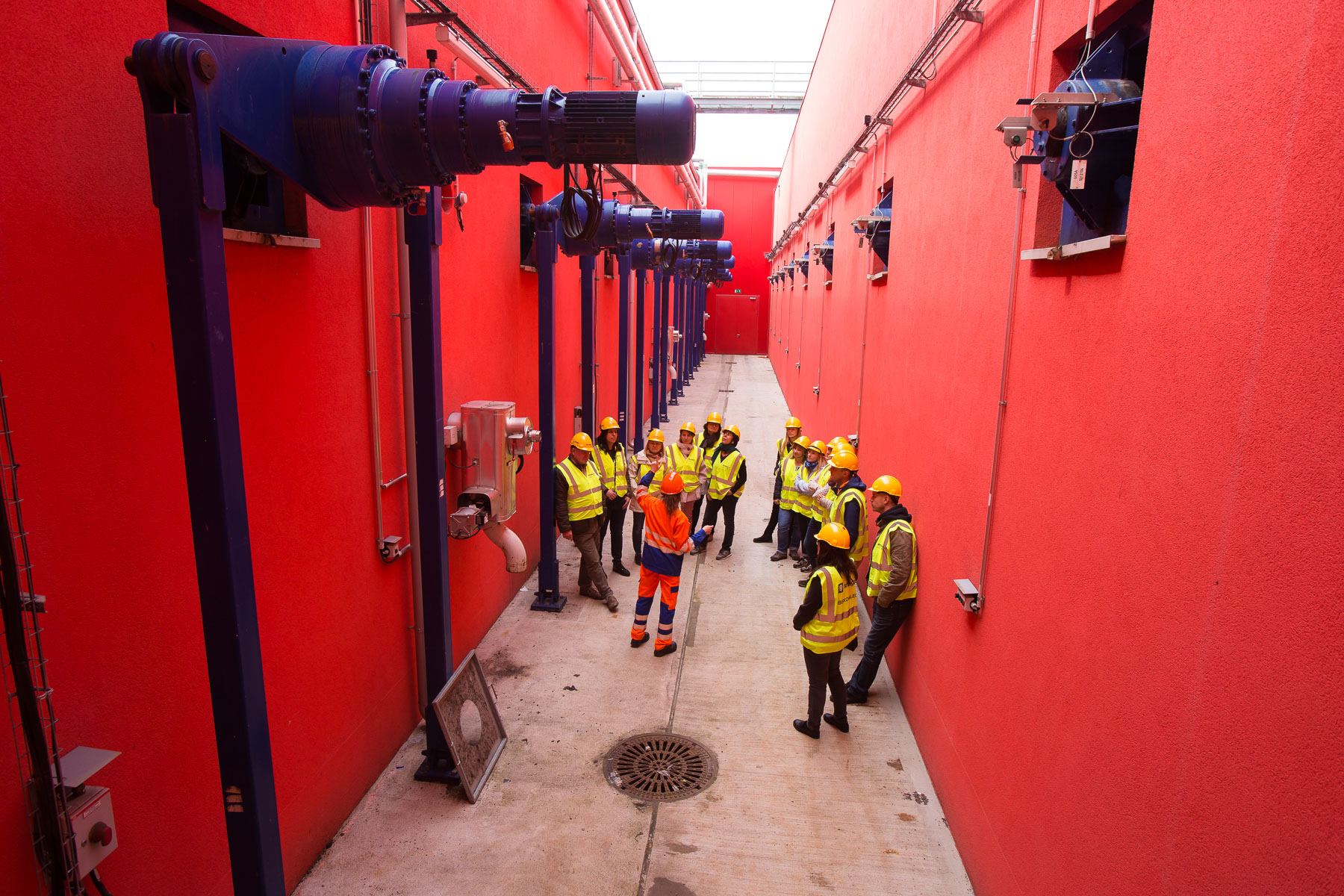 International guests on their zero waste study tour of Slovenia organized by Zero Waste Europe visit the bioreactor at the RCERO Ljubljana mechanical biological treatment plant on May 8, 2019.