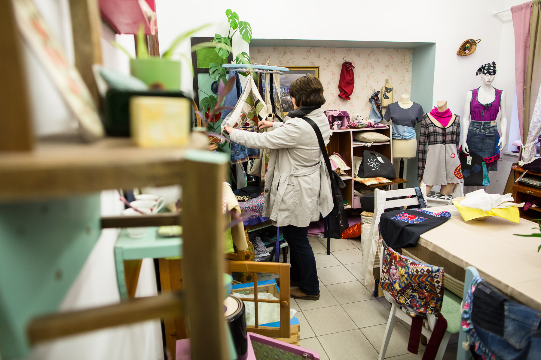 Customers browse through the Reuse center store on May 8, 2019.