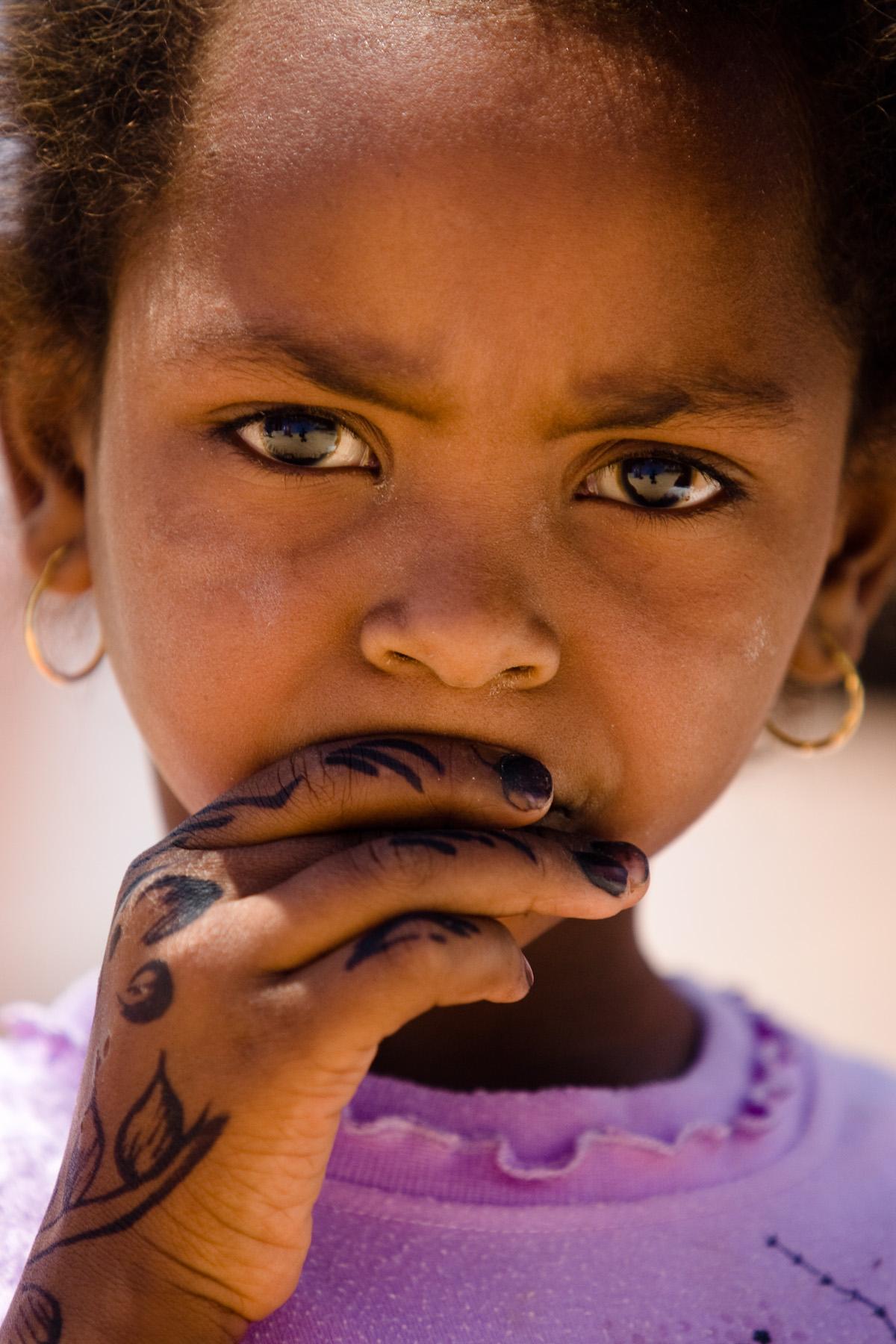 Nubian girl, Aswan