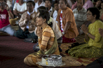 Hsih Seng: Aung San Suu Kyi prays at a local monastery as she visits with monks during an early election campaign visit to Shan state.Paula Bronsteinfor Der Spiegel / Getty Images Reportage