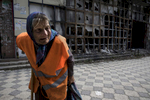 """Raisa Andreyevna,72, walks home from a local market area which was destroyed back in 2015. She works as a janitor which pays her enough to survive. Originally from Russia, she now lives alone. Her children and grandchildren have all moved away to safer areas as part of Donetsk remain dangerous and occasionally gets shelled. """"I have told them to move out, I am not afraid to get killed because I have already lived my life but they have children they have to take care of."""" Since the beginning of the war she can no longer receive her Ukrainian pension of $50 a month. After more than four years of war the armed conflict in eastern Ukraine has a human toll that is staggering. The war has displaced more than 1.6 million with over 2,500 civilians killed and 9,000 injured. Some 200,000 people live under constant fear of shelling every day, with nearly a third of the 3.4 million people in need of humanitarian assistance over 60 years of age. Ukraine has the highest proportion of elderly affected by war in the world."""