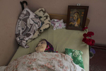 Nadezhda Borisovna, age 76, from Dobropolye, died in the nursing home from diabetes, she suffered from obesity. The body had to stay in a room with two other sick elderly women, untouched for about 2 days, as nursing home has no resources to deliver it to the morgue and the healthcare institution from her native town delays to pick her body up. Her neighbors took the responsibility to organize a funeral service for her as she has no relatives. After more than four years of war the armed conflict in eastern Ukraine has a human toll that is staggering. The war has displaced more than 1.6 million with over 2,500 civilians killed and 9,000 injured. Some 200,000 people live under constant fear of shelling every day, with nearly a third of the 3.4 million people in need of humanitarian assistance over 60 years of age. Ukraine has the highest proportion of elderly affected by war in the world.
