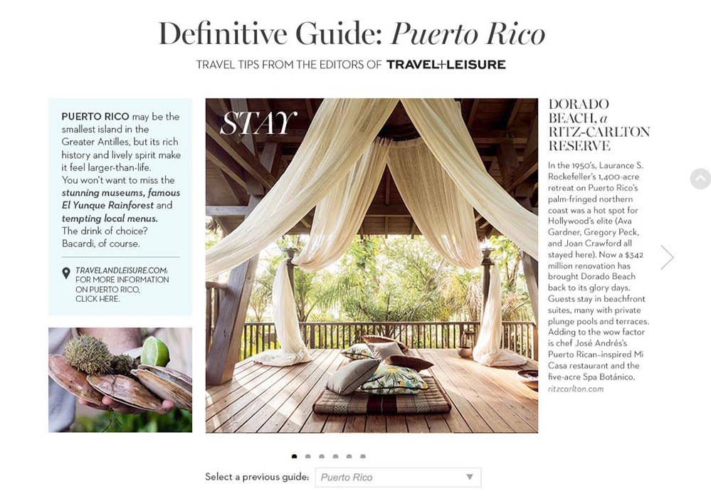 Client: Travel and Leisure for Chico's.comSubject: Advertorial series called Destination Fabulous written by T+L and featured on Chico's Clothing website.