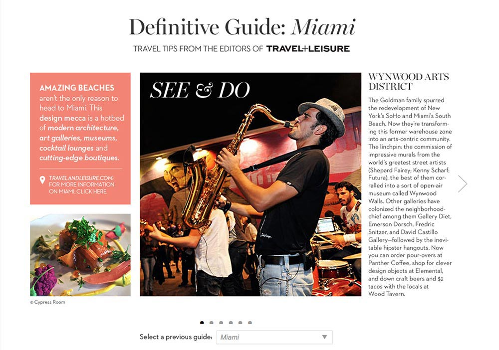 Client: Travel and Leisure for Chico's.comSubject: Advertorial series called Destination Fabulous
