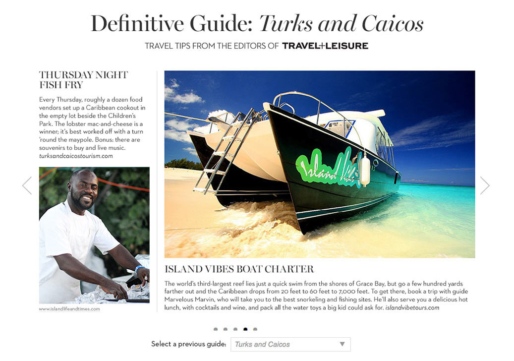 Client: Travel and Leisure for Chico's Subject: Advertorial series called Destination Fabulous written by T+L and featured on Chico's Clothing website.