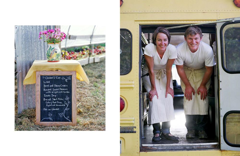 Interior Spread: Farm Dinner by Carmel Zucker, Design and Photo Editing by Paula Gillen