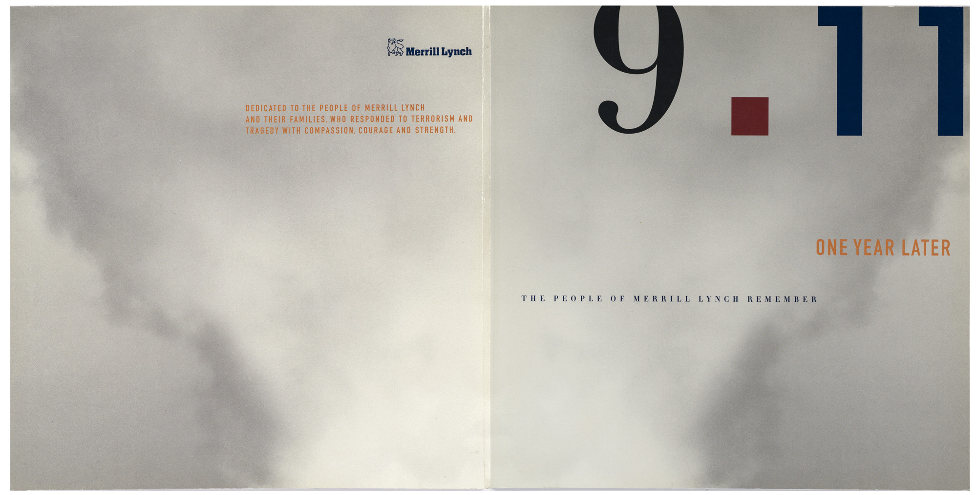 Client: Time Inc Custom PublishingProject: 9-11 Memorial Issue - Merrill Lynch Photo Researcher: Paula Gillen