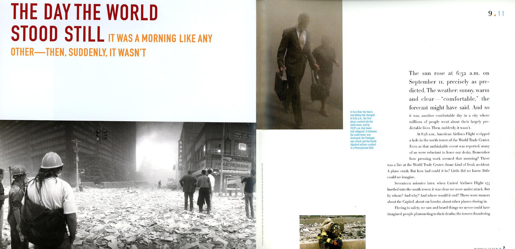 Client: Time Inc Custom PublishingProject: 9-11 Memorial Issue - Merrill Lynch Photo Researcher: Paula Gillen