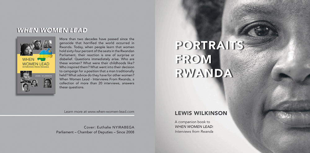 Client: Lewis WilkinsonProject: Portraits of Women from Rwanda Photos and interviews by Lewis WilkinsonLayout and Design: Paula Gillen