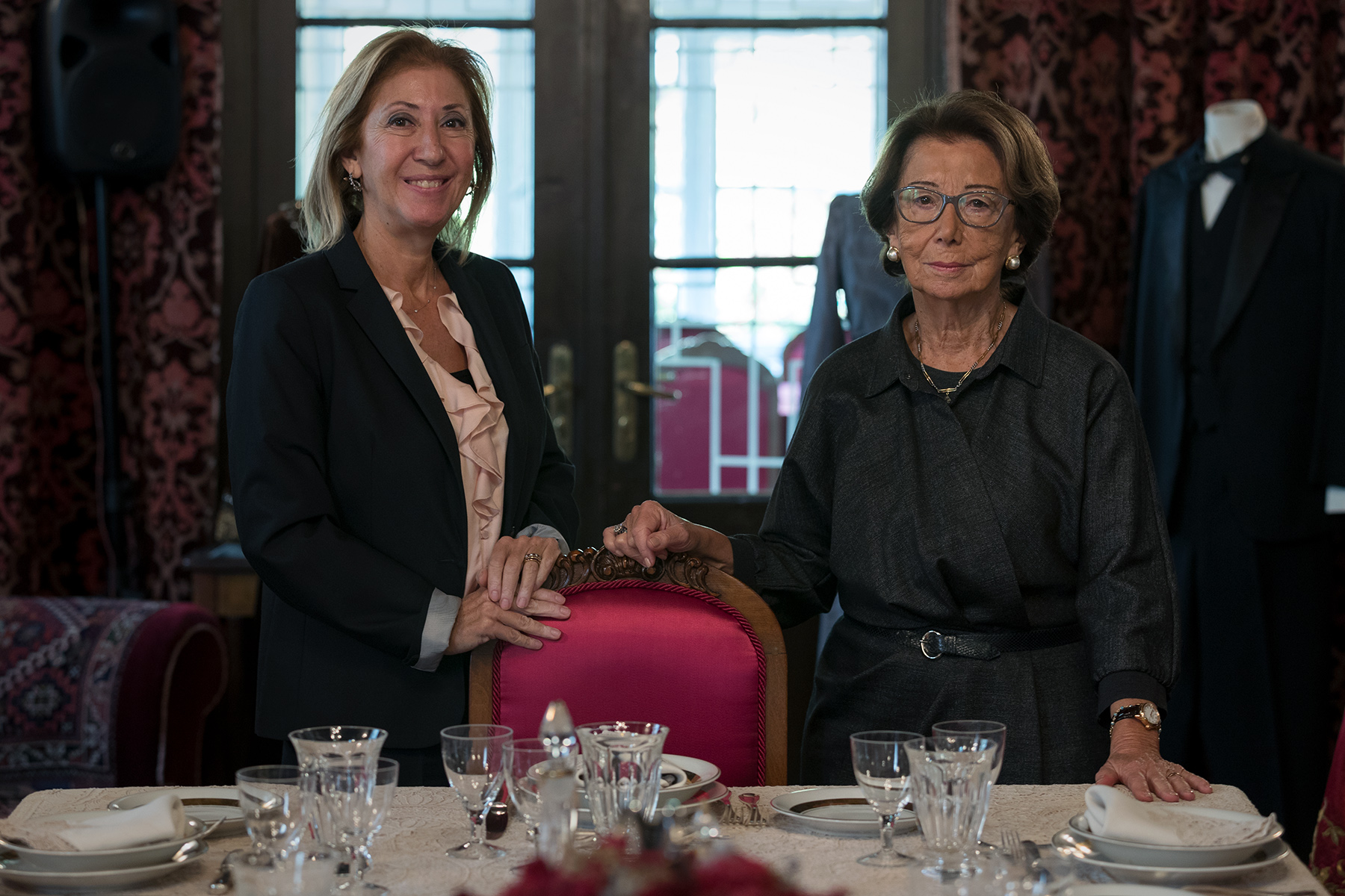 Turkey, 2017 - Özden Toker (right), daughter of İsmet İnönü, Ataturk's right-hand and second president of the Turkish Republic and Gülsün Bilgehan, her own daughter, CHP deputy, parliamentary and member of the Parliamentary Assembly of the Council of Europe.