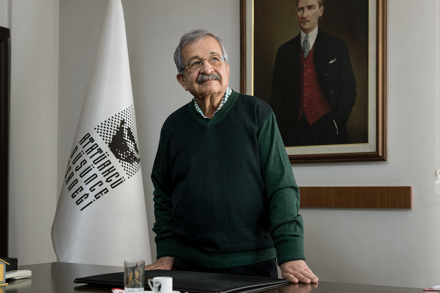 Turkey, 2017 - Uluç Gürkan, vice-president of the Atatürkist Thought Association (ADD), an independant secular organization, non-governmental, dedicated to the promotion of Ataturk's ideas.