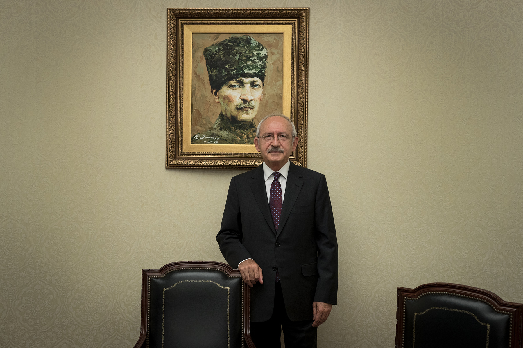 Turkey, 2017 - Kemal Kılıçdaroğlu, president of the Republican People's Party (CHP), founded by Atatürk. Main political opponent to President Recep Tayyip Erdoğan.