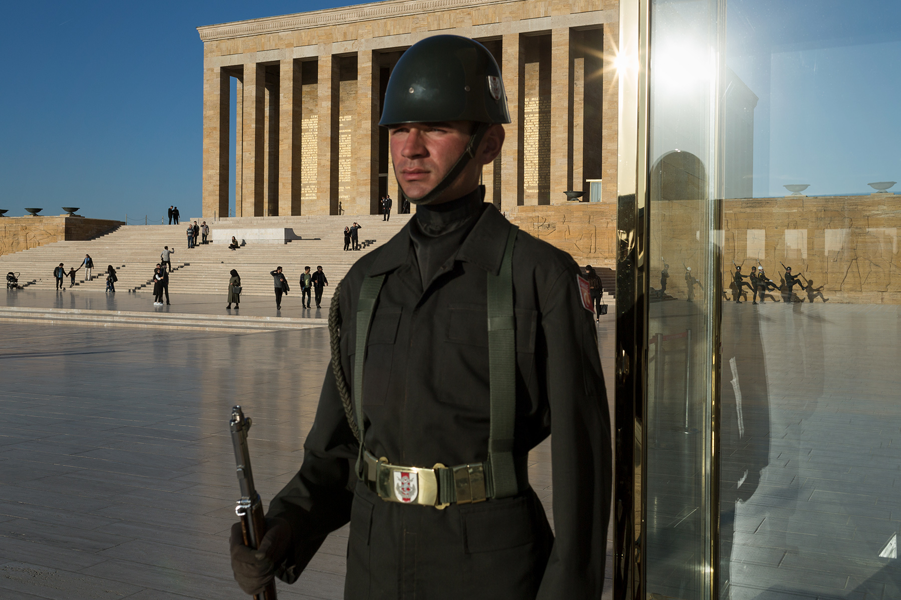 Turkey, 2017 - Changing of the Guard at Anitkabir, the mausoleum of Atatürk.