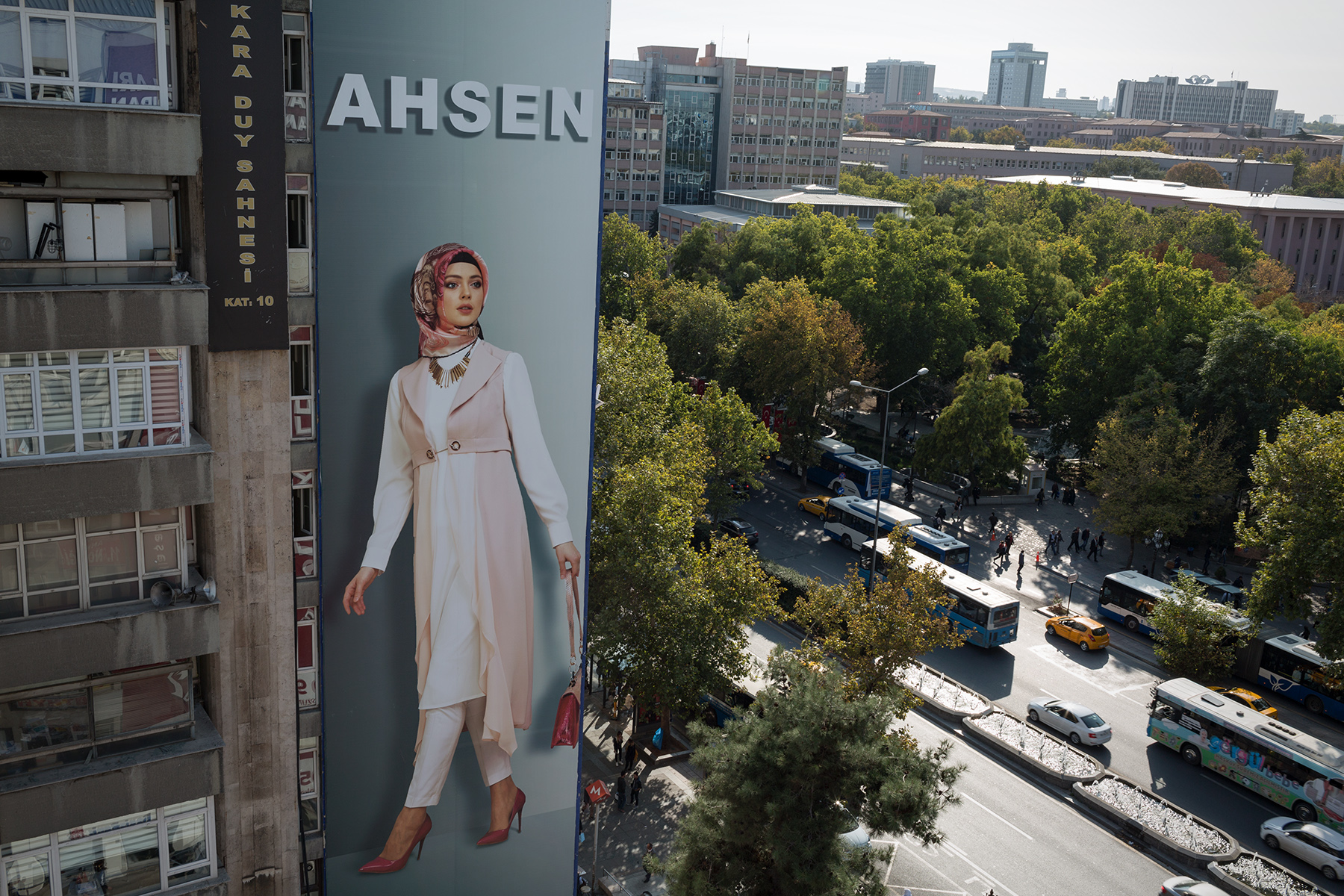 Turkey, 2017 - Advertising in Ankara for the Islamic fashion, a growing phenomenon in Turkey.