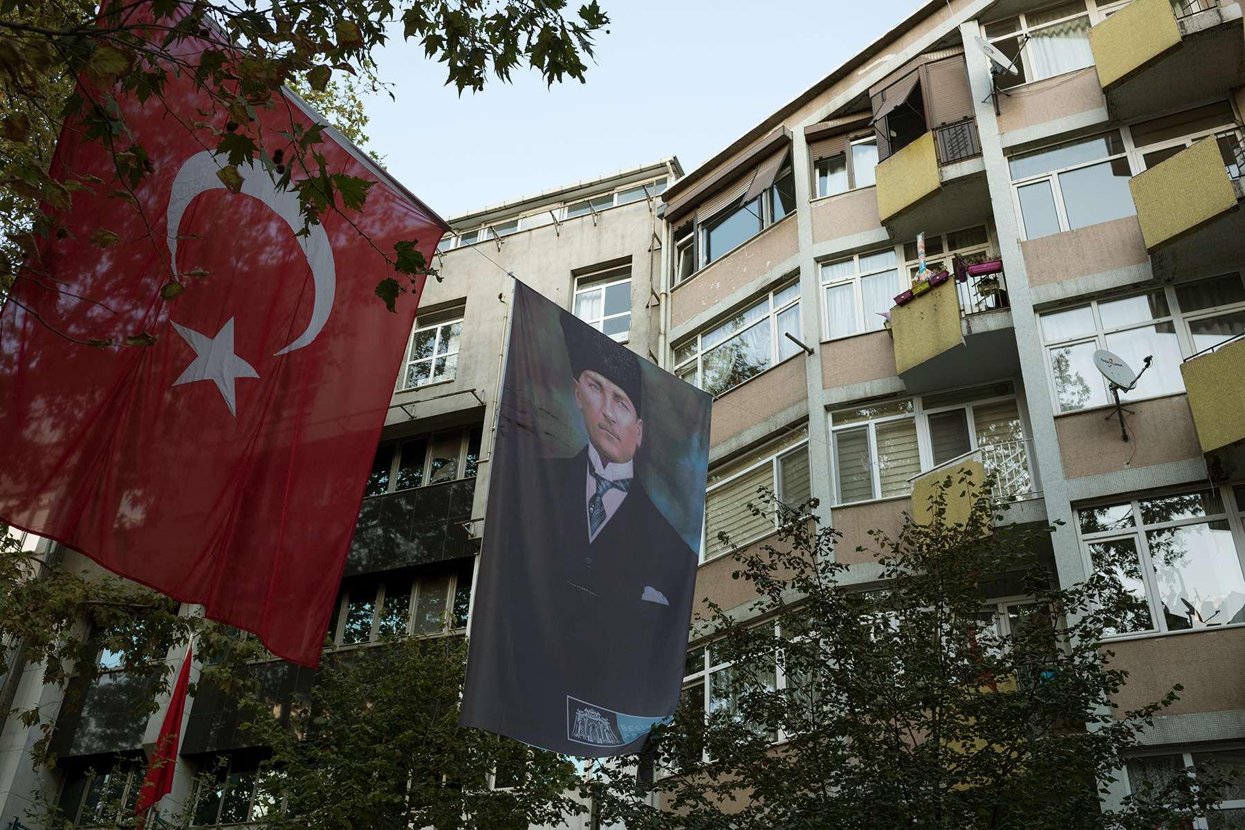 Turkey, October 2017 - Besiktas, a secular district of Istanbul before the festivities for Atatürk's death anniversary.