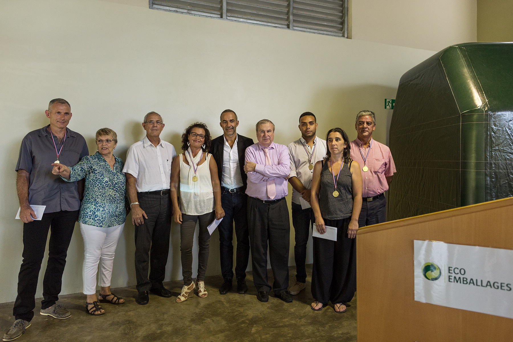 The Eco-Emballages President's Visit in Reunion IslandShot for Euros Agency© Arnaud Andrieu 2016