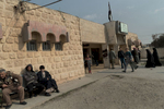 Traitors who joined ISIS and current cases are jugded at the Court of former ISIS bastion Hammam al-Alil, Iraq on Jan. 9, 2017. The men on the bench wait for the trial of a close since the start of the day.