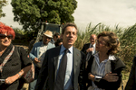 Nicolas Sarkozy has still in mind the 2017 Presidential Election and discusses with sugar cane workers about the evolution of their sector, during a visit on the island. Saint Andre, Reunion Island, France. May 27, 2016