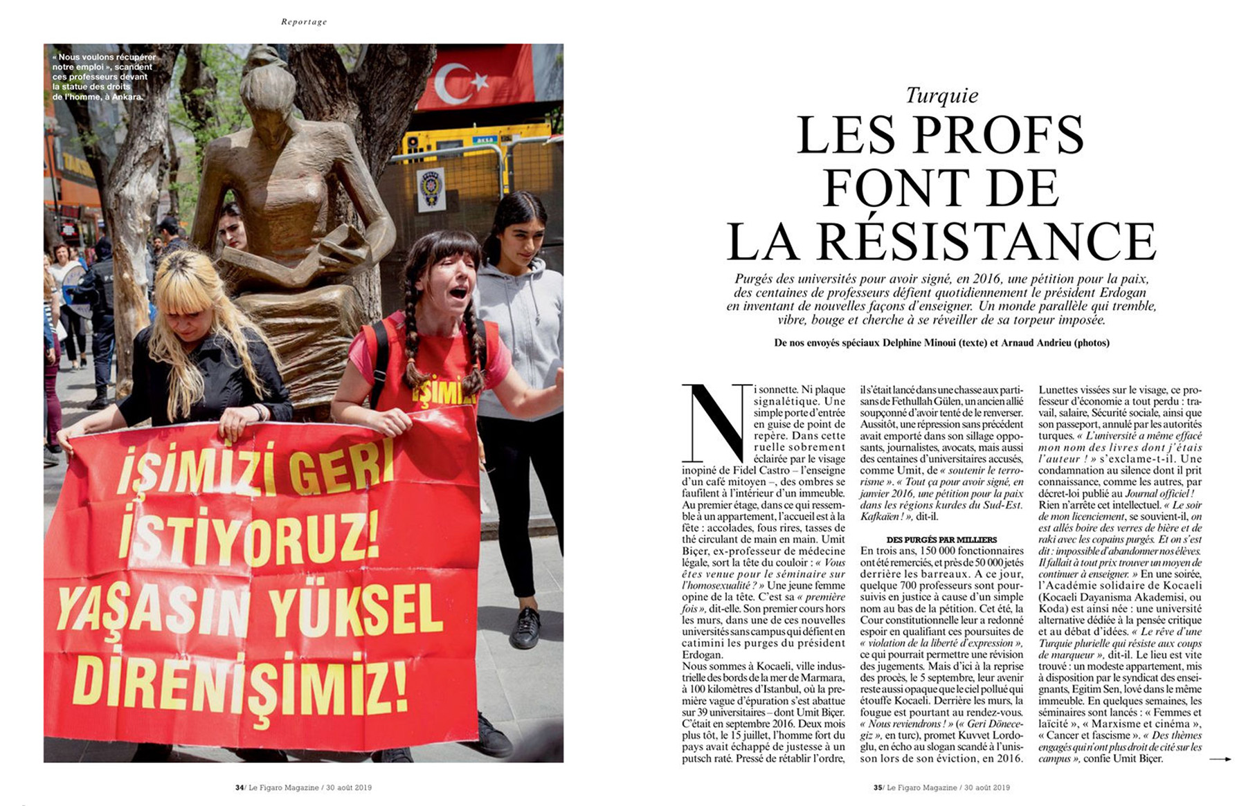 Assignment for Le Figaro Magazine