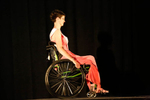 Samantha Schroth, Ms. Wheelchair Wisconsin 2014, wheels across the stage after being introduced.