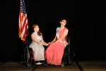 Stephanie Woodward, Ms. Wheelchair Florida 2014, and Sam Schroth, Ms. Wheelchair Wisconsin 2014, wait to find out who will win the title, and who will be first runner-up.