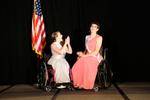 Stephanie Woodward and Samantha Schroth react to the announcement that Schroth has just won Ms. Wheelchair America 2015.
