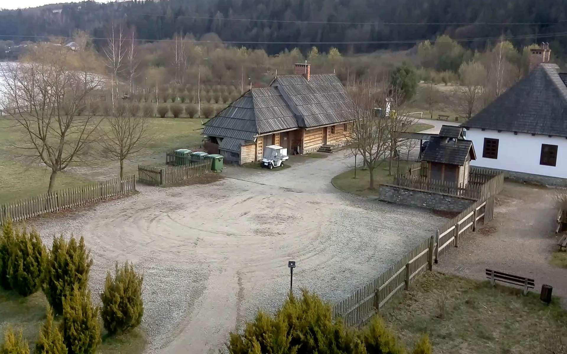 Tourist center, Niedzica, Poland. April 14, 2020, 7:50:37 AM PST