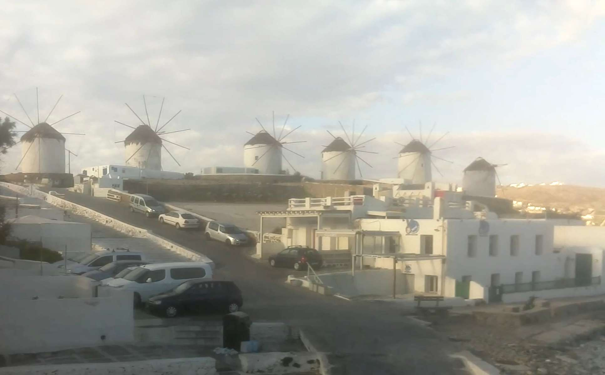 Windmills, Mykonos, Greece. May 2, 2020, 9:59:13 PM PST