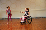 Stephanie Woodward, Ms. Wheelchair Florida 2014, dances with the child of another contestant during a pajama party held during the week of the pageant. Woodward is an attorney and disability rights advocate, who's been arrested twice, while protesting disability discrimination.